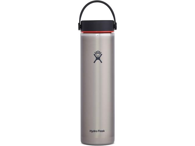 Hydro Flask Wide Mouth Trail Lightweight Bidón con Tapa Flex 709ml, gris